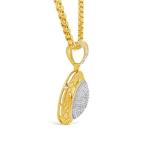 Diamond Pendant 1.25 CTW Round Cut 10K Yellow Gold
