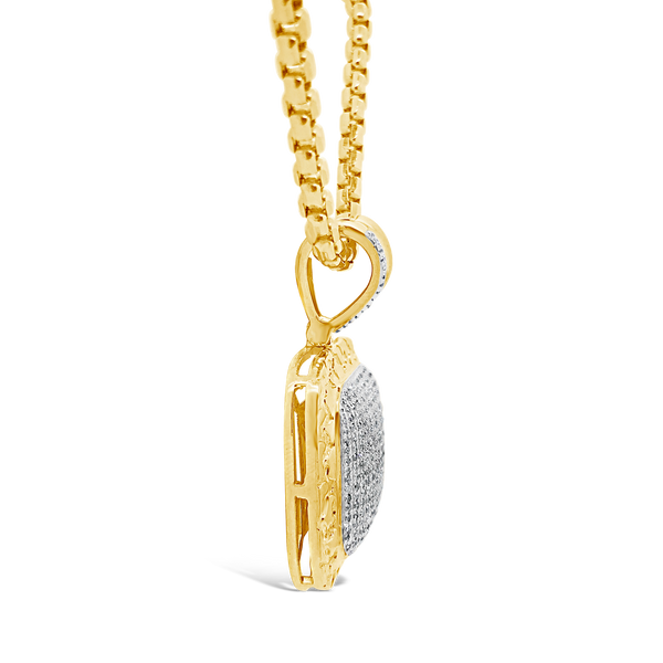 Diamond Pendant .85 CTW Round Cut 10K Yellow Gold