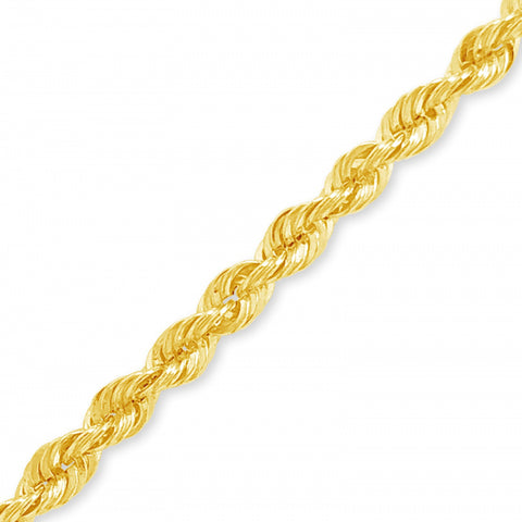 "10K Yellow Gold Hollow  Murray Design 18"" Rope Chain w/ Diamond Cuts"
