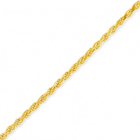"10K Yellow Gold Solid  Murray Design 16"" Rope Chain w/ Diamond Cuts"