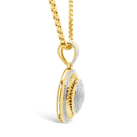 Diamond Pendant 1.55 CTW Round Cut 10K Yellow Gold
