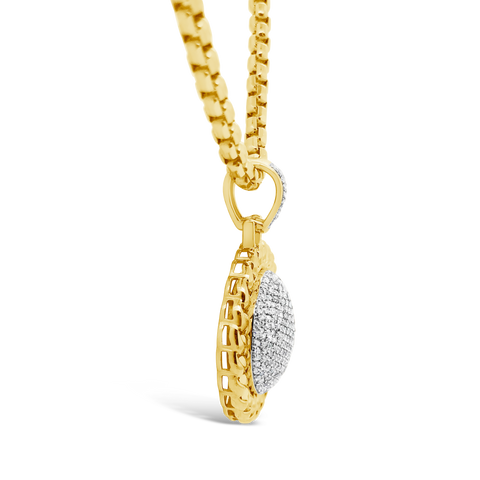 Diamond Pendant .75 CTW Round Cut 10K Yellow Gold
