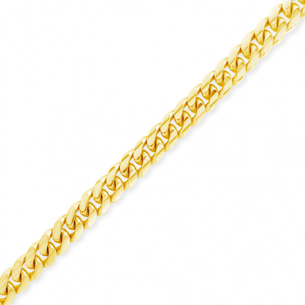 "10K Solid Yellow Gold Miami Cuban 20"" Chain"