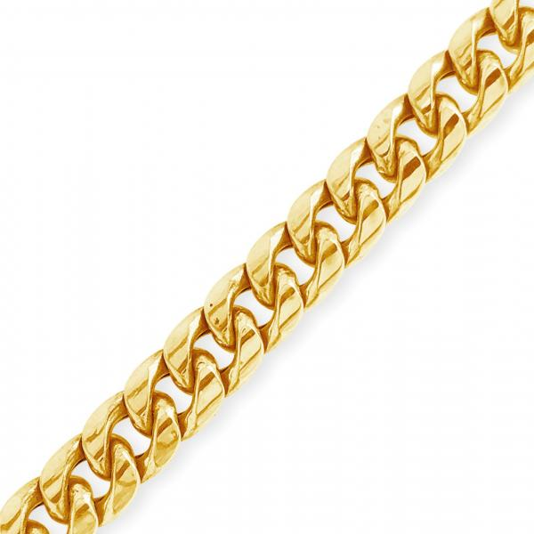 "10K Yellow Gold Hollow  Miami Cuban 22"" Chain"