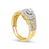 Diamond Engagement Ring .33CT tw Round Cut 10K Yellow Gold