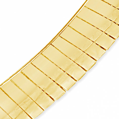 "10K Yellow Gold Reversable  Omega 16"" Chain"