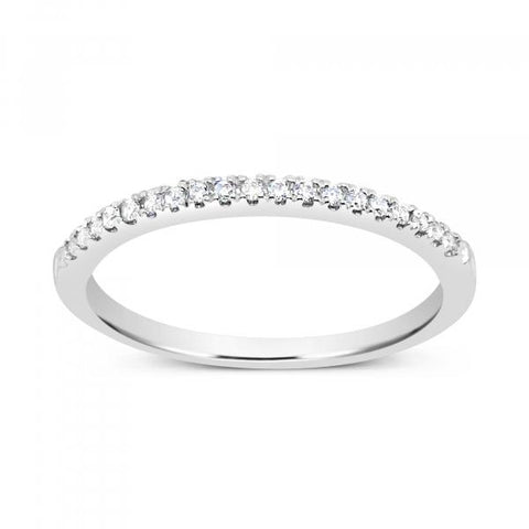 14K Yellow Gold .10 CTW Round Cut Diamond Band