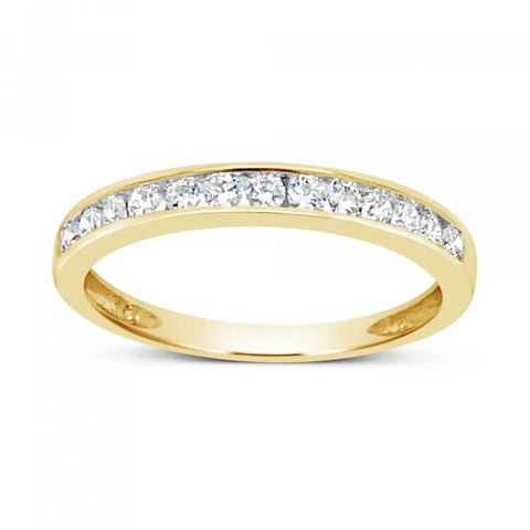 Diamond Band .25 CTW Round Cut 14K White Gold