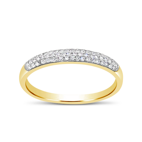Diamond Band .15 CTW Round Cut 10K Yellow Gold