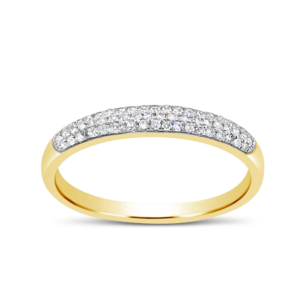 Diamond Band .15CT tw Round Cut 10K Yellow Gold