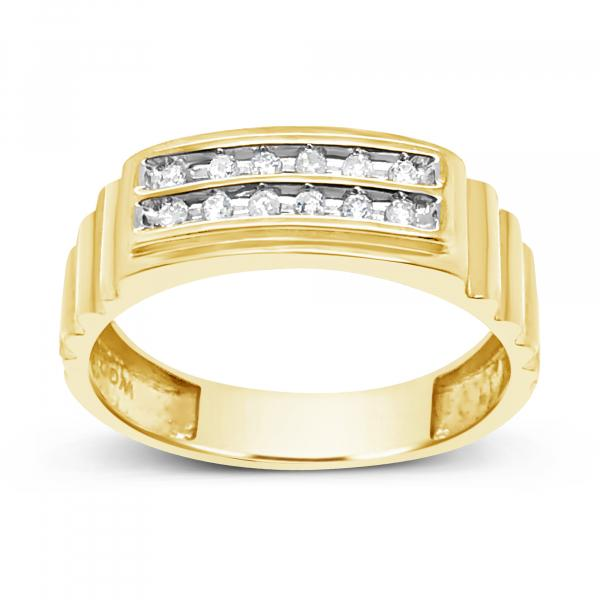 Diamond Ring .15CT tw Round Cut 10K Yellow Gold
