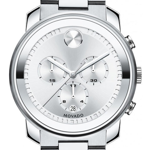 Movado Men's Bold Silver Stainless-Steel Swiss Quartz Watch