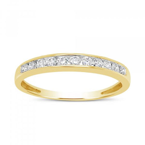 Diamond Band .25 CTW Round Cut 10K Yellow Gold Band