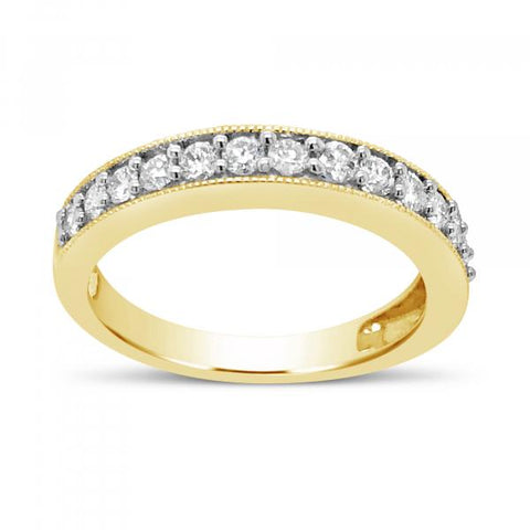 Diamond Band .50 CTW Round Cut 14K Yellow Gold