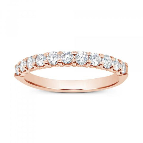 Diamond Band .52 CTW Round Cut 14KRose Gold