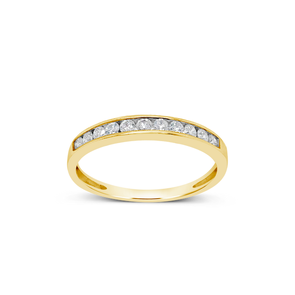 Diamond Band .25 CTW 14K Round Cut Yellow Gold