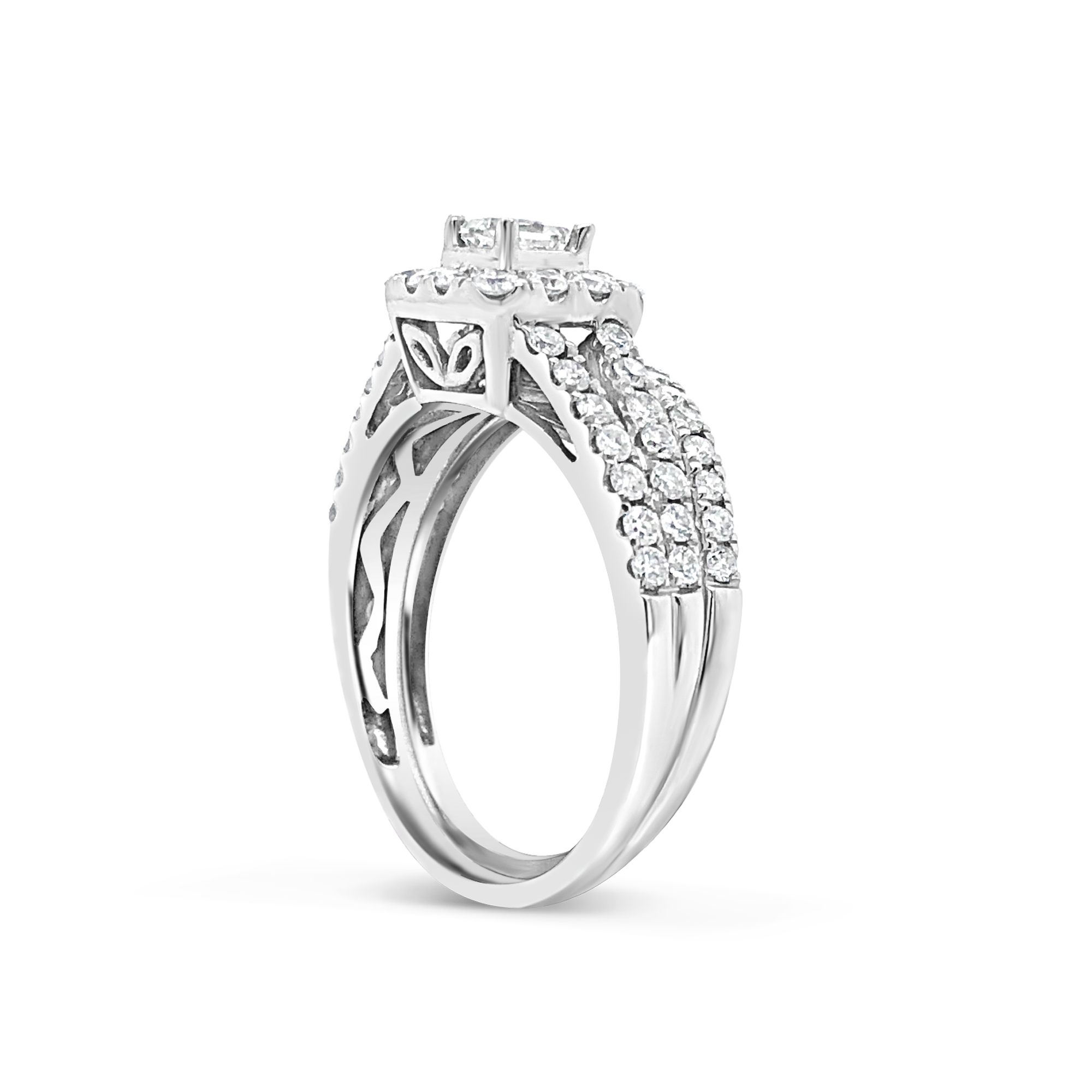 Diamond Engagement Ring 1 CTW 14K White Gold