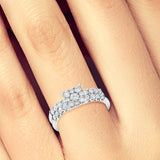 Diamond Engagement Ring 1CT tw Round Cut 14K White Gold