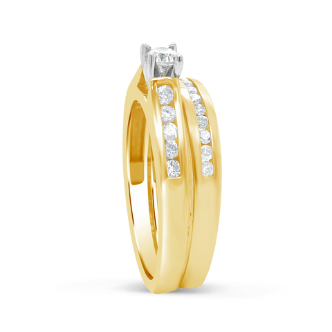 Diamond Engagement Ring .55 CTW Round Cut 14K Yellow Gold