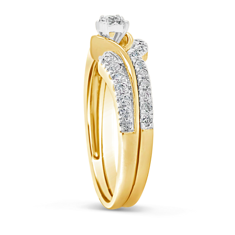 Diamond Engagement Ring .33 CTW Round Cut 10K Yellow Gold