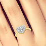 Diamond Ring .20CT tw Round Cut 14K Yellow Gold