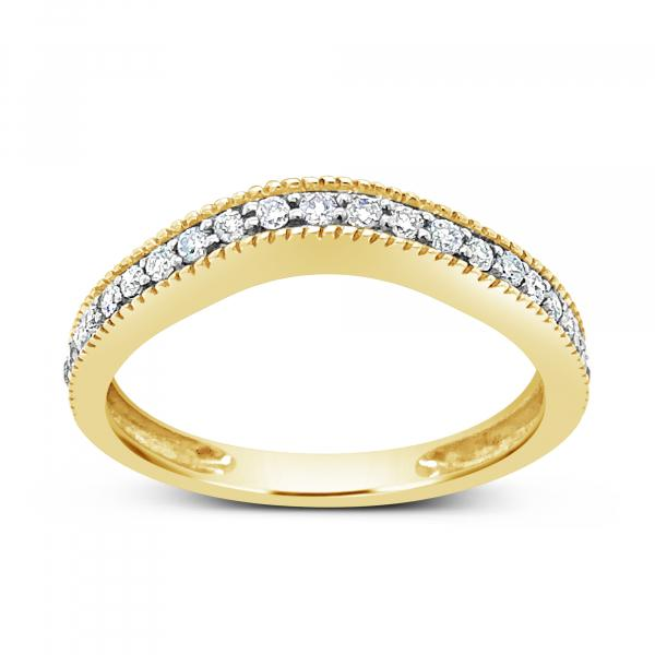 Diamond Band .25CT tw Round Cut 10K Yellow Gold