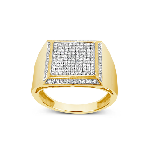Diamond Ring .50 CTW Round Cut 10K Yellow Gold