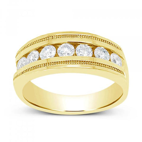 Diamond Ring 1CT tw Round Cut 14K Yellow Gold Band