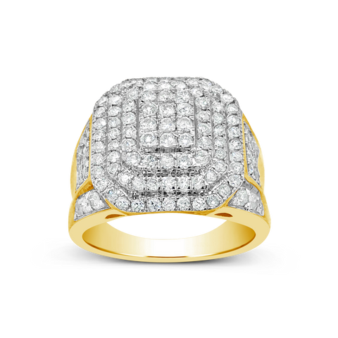 Diamond Ring 1.90CT tw Round Cut 10K Yellow Gold