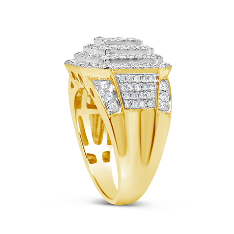 Diamond Ring 1.90 CTW Round Cut 10K Yellow Gold