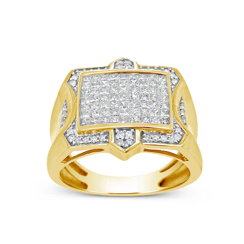 Diamond Ring 1 CTW Princess Cut 10K Yellow Gold