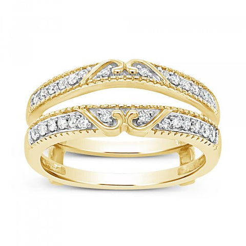 .25CT tw Round Cut 14K Yellow Gold Ring Jacket