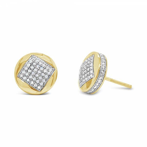 10K Yellow Gold .25ct Diamond Earrings