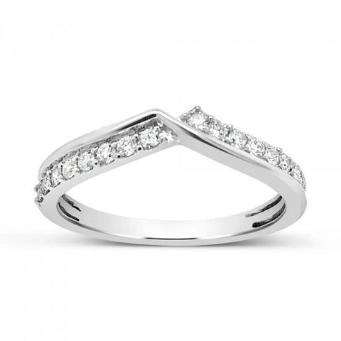 Diamond band .25CT tw Round Cut 14K White Gold