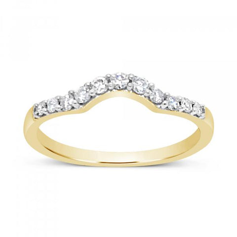 14K Yellow Gold .25ct tw Round Cut Diamond Band
