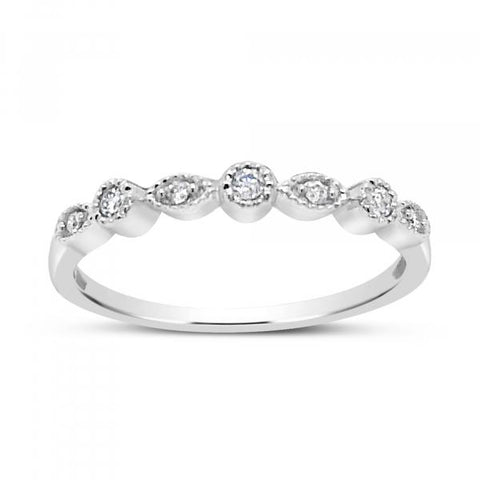Diamond Band .08 CTW Round Cut 14K White Gold