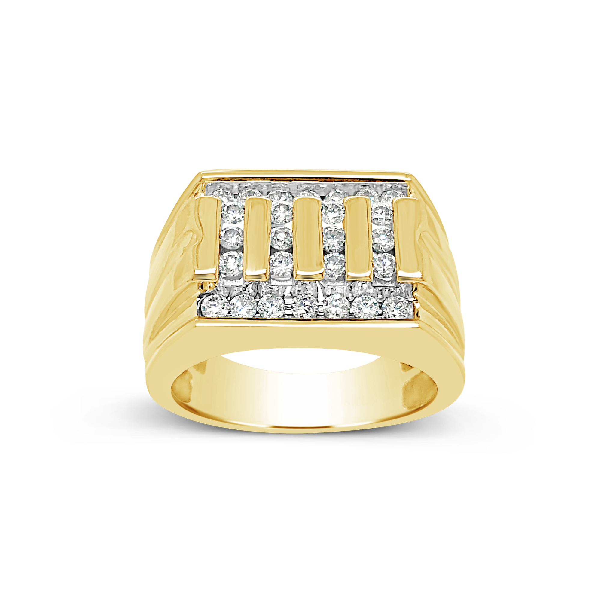 Diamond Ring .75 CTW Round Cut 10K Yellow Gold