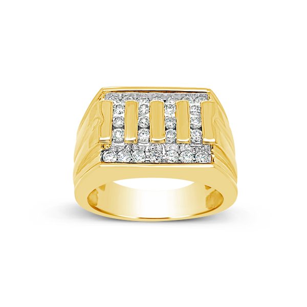 Diamond Ring .75CT tw Round Cut 10K Yellow Gold