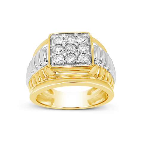 Diamond Ring 1 CTW Round Cut 10K Yellow Gold