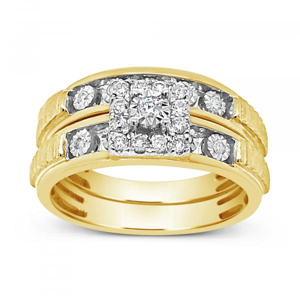 Diamond Trio Set .25 CTW Round Cut 10K Yellow Gold