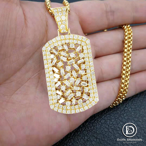 DIAMOND PENDANT 2.92CT 10K YELLOW GOLD