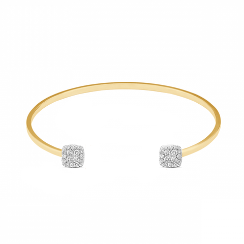 14K Yellow Gold Women's Bracelet With 0.32CT Diamonds