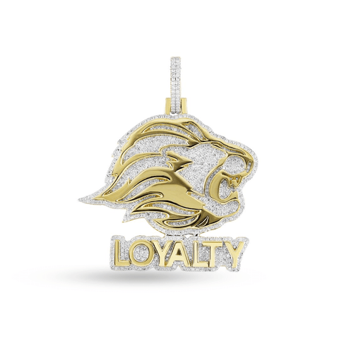 10K Yellow Gold Loyalty Pendant With 1.75CT Diamonds
