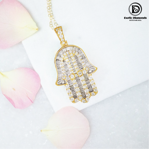 DIAMOND PENDANT 2.69 CT 10K YELLOW GOLD