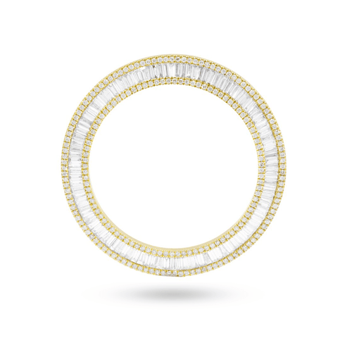DIAMOND BAZEL 3.69CT 10K YELLOW GOLD