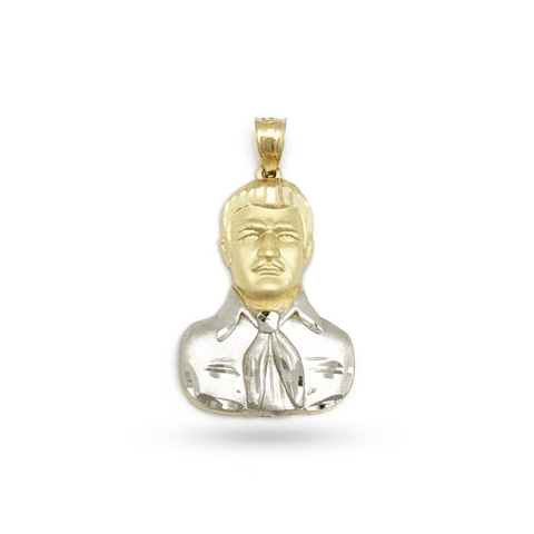 14K Yellow Gold Malverde Pendant
