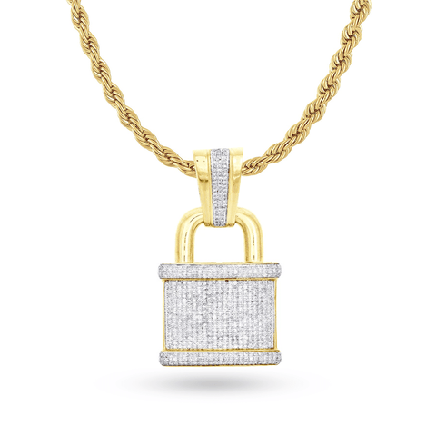 DIAMOND PENDANT1.06 CT 10K YELLOW GOLD