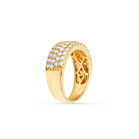 14K Yellow Gold Men's Ring with 6.90CT Diamonds