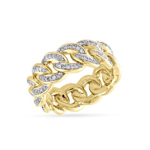 10K Yellow Gold Men's Ring With 0.83CT Diamonds