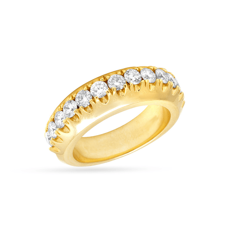 10K Yellow Gold Men's Ring With 1.41CT Diamonds